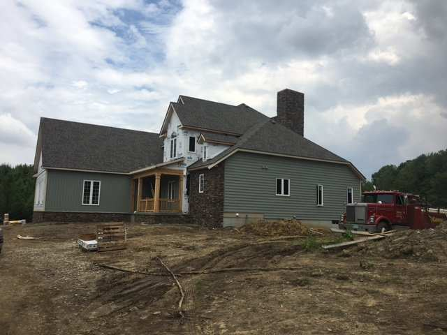 Columbus custom home builders and design firm new home in Granville, Ohio nearing completion