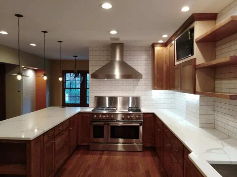 Bexley, Ohio home remodeled finished kitchen with new cabinets and countertops