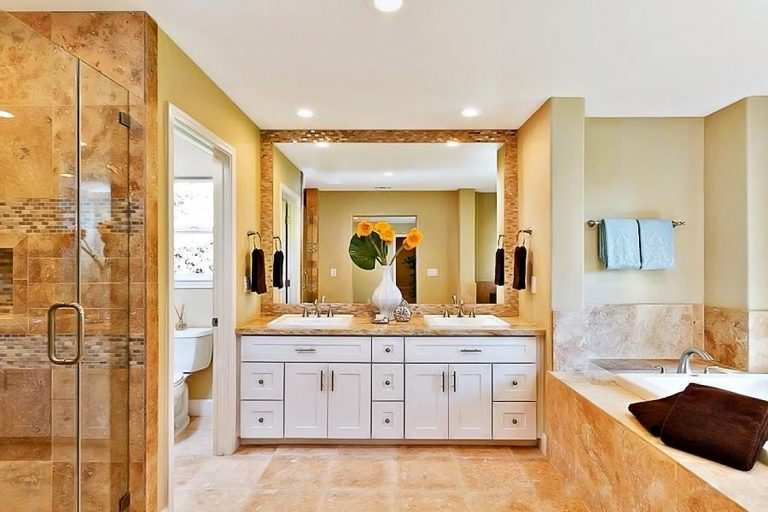 Bathroom remodeling company and bath renovation service in Columbus and throughout Central Ohio displaying full bathroom remodel