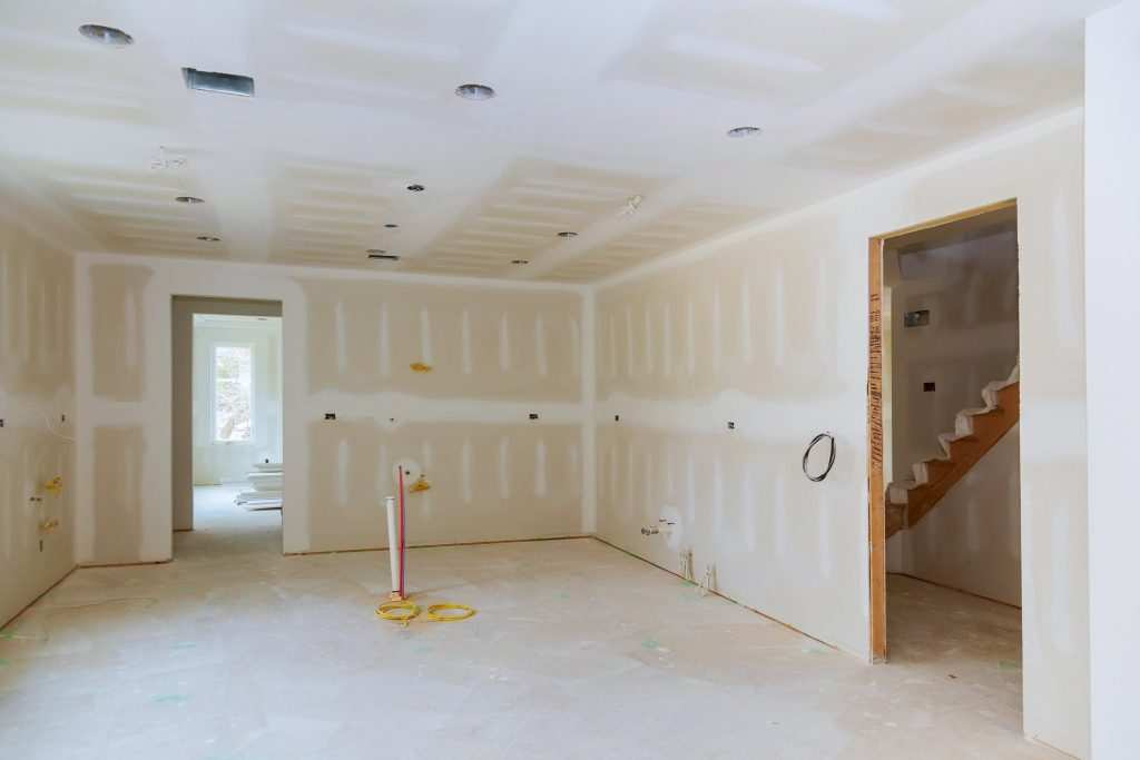 Spring remodeling contractors Columbus, Ohio with new drywall for room renovation